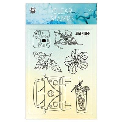 Summer vibes - polimer bélyegző 01 - A6