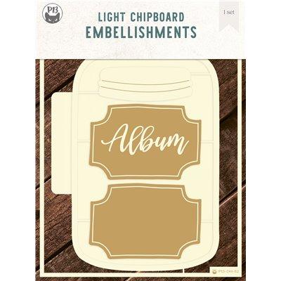 Chipboard albumalap - Jar - Befőttes üveg