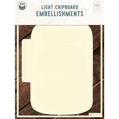 Chipboard albumalap - Belső lapok a Jar - Befőttes üveg albumalaphoz