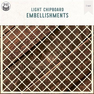 Chipboard Background 08 - Lattice L