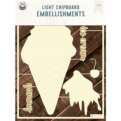 Ice cream chipboard szett
