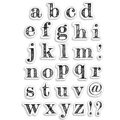 """Szilikonbélyegző szett 4""""x6""""- Design Lowercase Alphabet"""