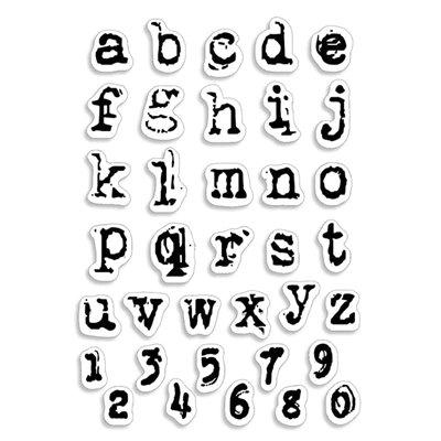 """Szilikonbélyegző szett 4""""x6""""- Reporter Lowercase Alphabet"""