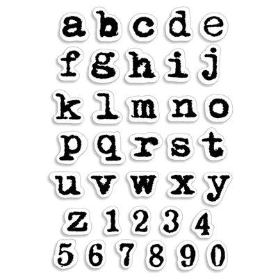 """Szilikonbélyegző szett 4""""x6""""- Remington Lowercase Alphabet"""