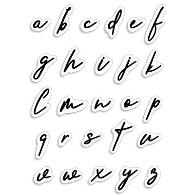 """Szilikonbélyegző szett 4""""x6""""- Muse Lowercase Alphabet"""