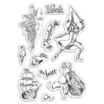 """Szilikonbélyegző szett 4""""x6""""- Hook & Mr Smee"""