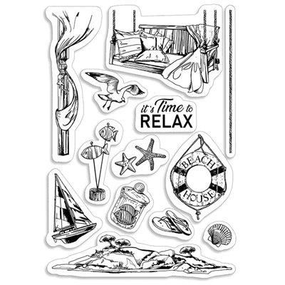 """Szilikonbélyegző szett 4""""x6""""- It's time to relax"""