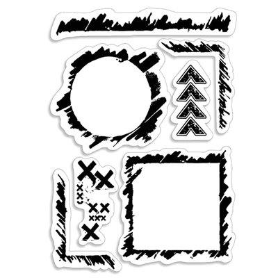 """Szilikonbélyegző szett 4""""x6""""- Grunge Frames and Borders"""