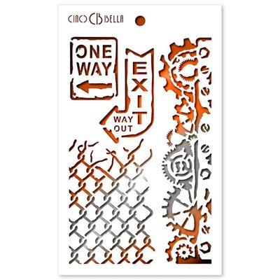 """Textúra stencil 5""""x8"""" - One Way"""