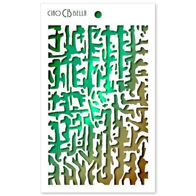 "Textúra stencil 5""x8"" - Abstract Lines"