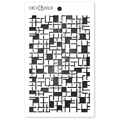 "Textúra stencil 5""x8"" - Crossword"