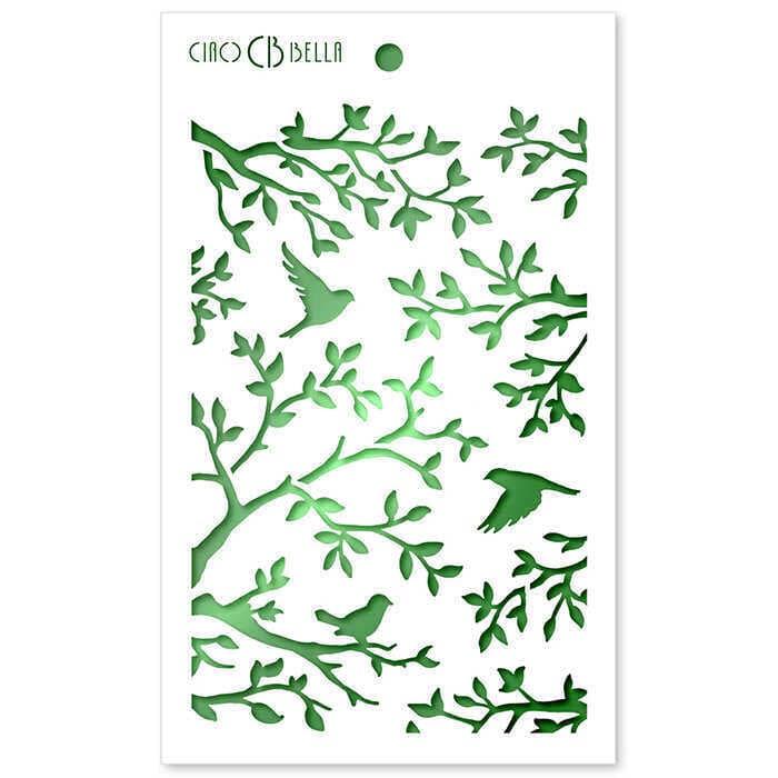 "Textúra stencil 5""x8"" - Three Birds"