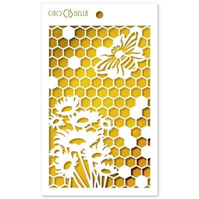 """Textúra stencil 5""""x8"""" - Queen Bee"""
