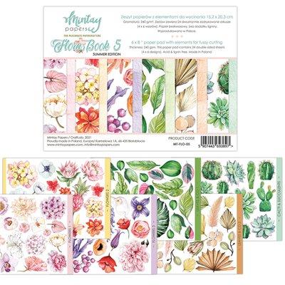 """Flora Book 5 - 6""""x8""""-as kivágóív kollekció"""