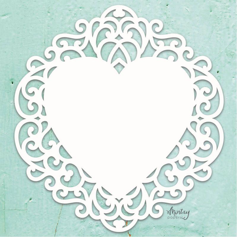 Mintay Chippies - Decor -Fancy Heart