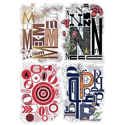 """Szilikonbélyegző szett 6""""x8""""- Design Letters MNOP"""