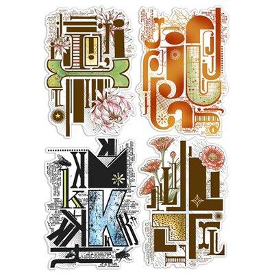 """Szilikonbélyegző szett 6""""x8""""- Design Letters IJKL"""