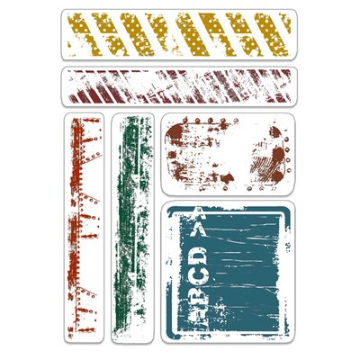 """Szilikonbélyegző szett 4""""x6""""- Urban Tags & Borders"""