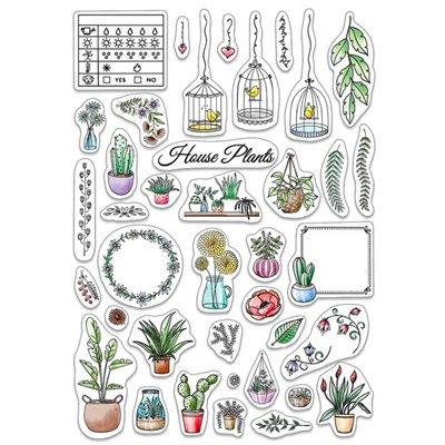 """Szilikonbélyegző szett 6""""x8""""- BUJO House Plants"""