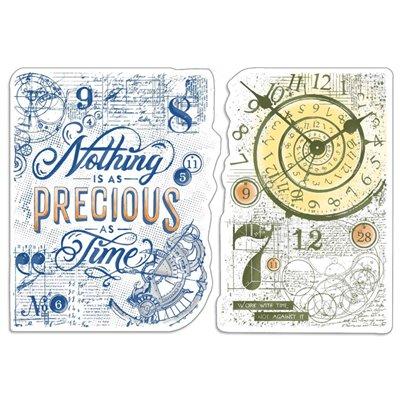 """Szilikonbélyegző szett 4""""x6""""- Nothing is as precious as time"""