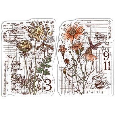 """Szilikonbélyegző szett 4""""x6""""- Botanical & Postmarks"""