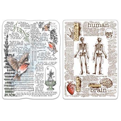 """Szilikonbélyegző szett 4""""x6""""- Human & Nature"""