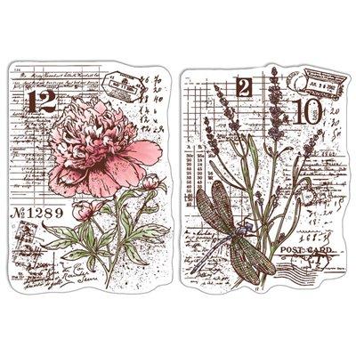 """Szilikonbélyegző szett 4""""x6""""- Botanical Postcards"""