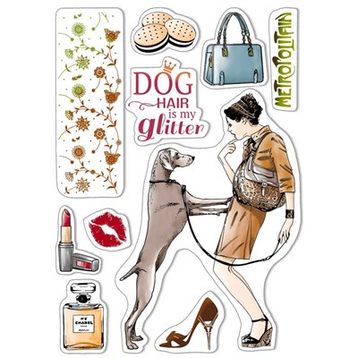"""Szilikonbélyegző szett 6""""x8""""- Dog Hair is my Glitter"""