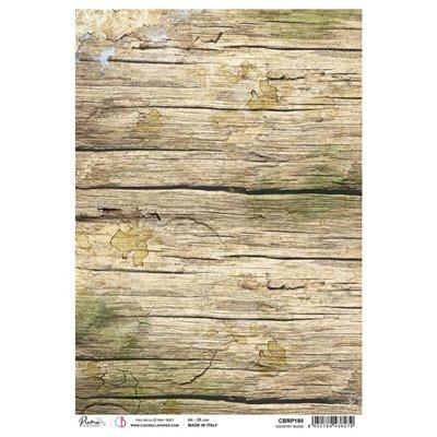 Rizspapír A4 - Country Wood