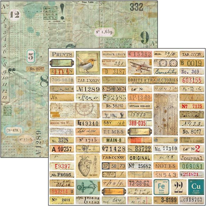 """Sign of the Times Labels 12""""x12""""-es papír"""