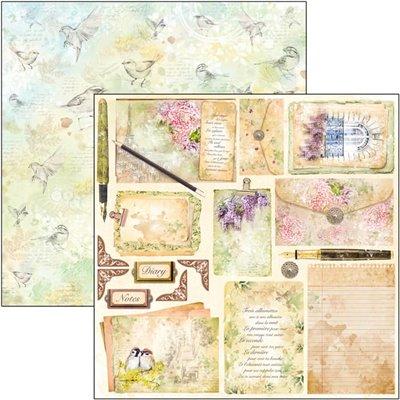 """Poemes D'Amour 12""""x12""""-es papír"""