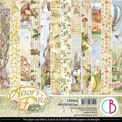 """Aesop's Fables 6""""x6""""-os papírkollekció"""