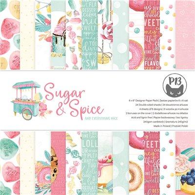 """Sugar and Spice - 6""""-es kollekció (24 db 2 oldalas papír + 2 db kivágóív)"""