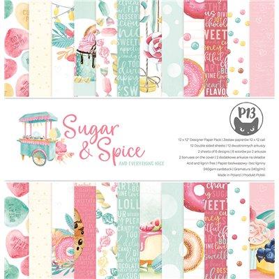"""Sugar and Spice - 12""""-es maxi kollekció (12 db 2 oldalas papír + 2 db kivágóív)"""