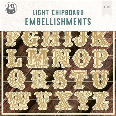 "Cookie Alphabet - chipboard szett - 8x8"""