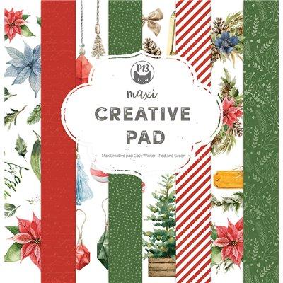 "Cosy Winter - Red and Green - 12""-es maxi creative pad (12 db 2 oldalas papír + 2 db borító)"