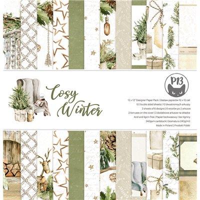 """Cosy Winter - 12""""-es mini kollekció (6 db 2 oldalas papír + 1 db kivágóív)"""