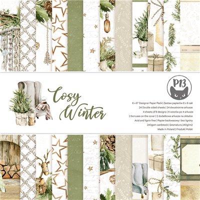 """Cosy Winter - 6""""-es kollekció (24 db 2 oldalas papír + 2 db kivágóív)"""