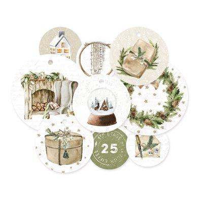 Cosy Winter - dekorációs címkék 01 - 9 db