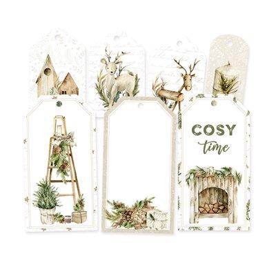 Cosy Winter - dekorációs címkék 03 - 7 db