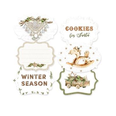 Cosy Winter - dekorációs címkék 04 - 6 db