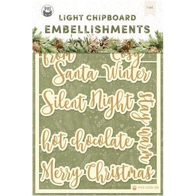 Cosy Winter - chipboard szett 06