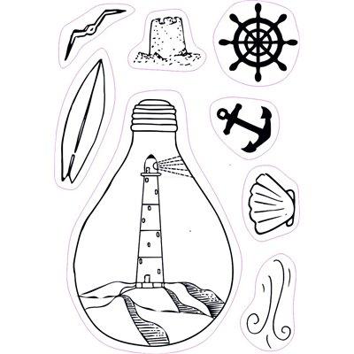 Marine bulb - bélyegzőszett no.144