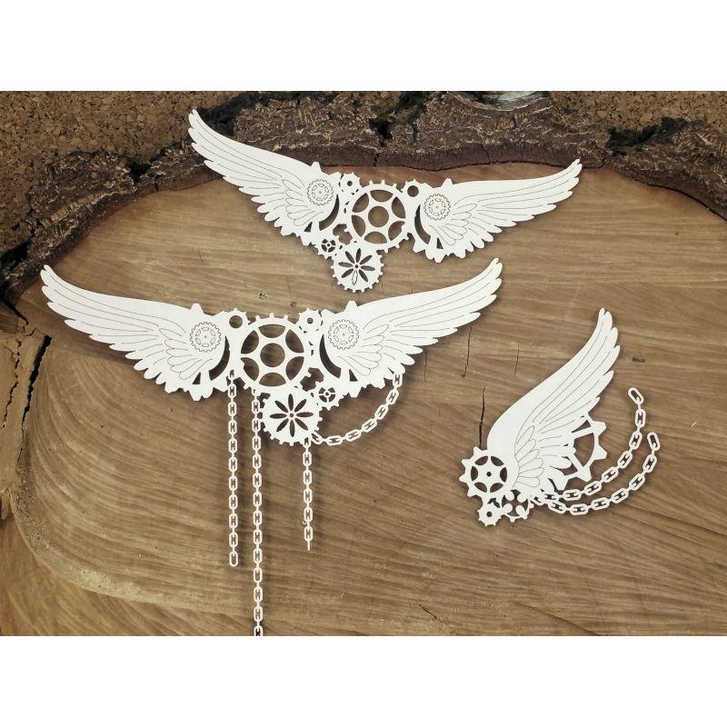 steampunk nagy láncos szárnyak