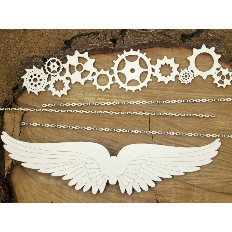 Steampunk-Flying hearts - XL elemek