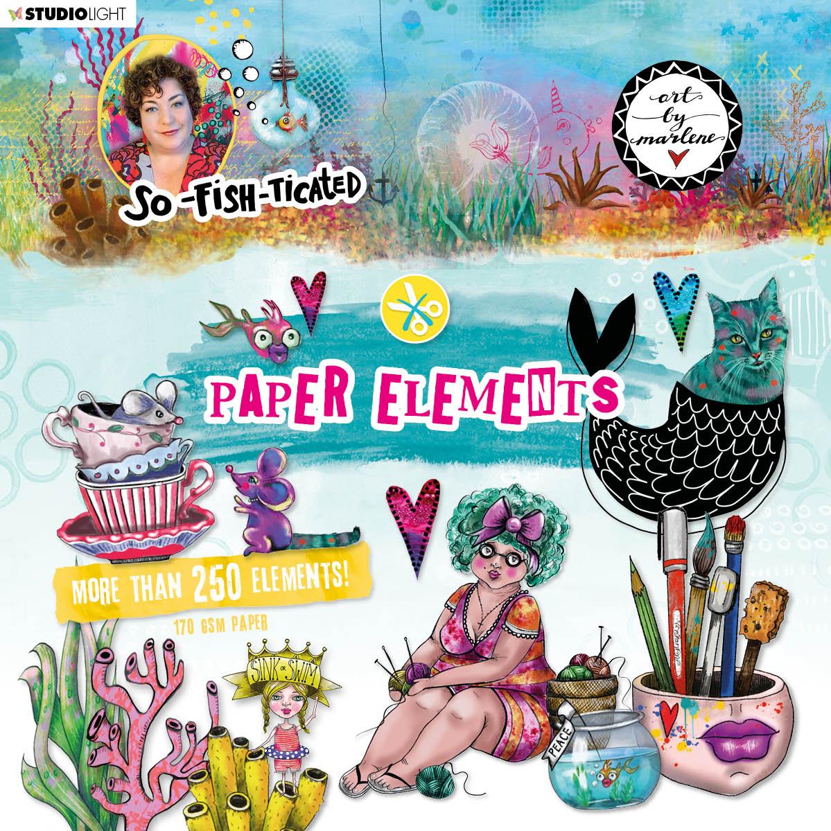 Art by Marlene - Paper Elements So Fish Ticated - kivágóív szett