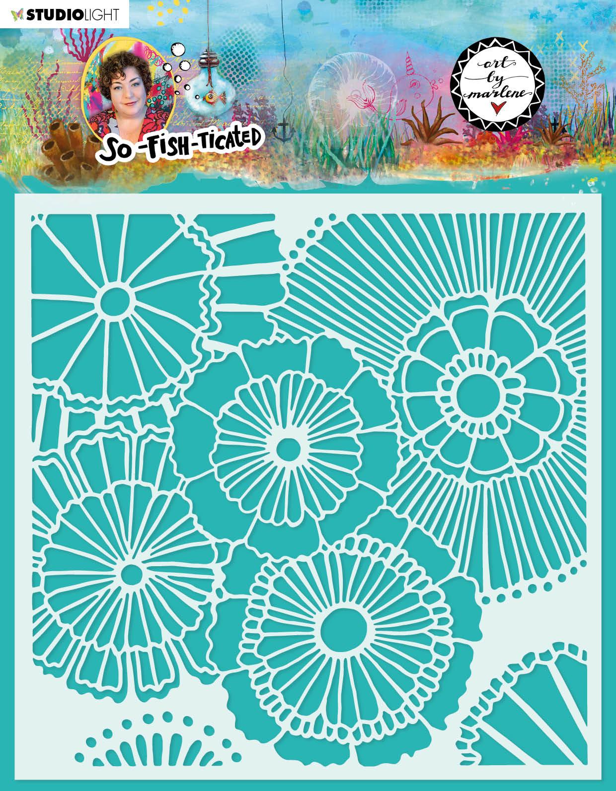 Art by Marlene - So Fish Ticated stencil nr.11