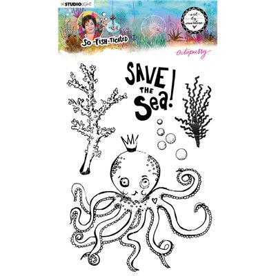 Art by Marlene - Octopussy - szilikonbélyegző des.09