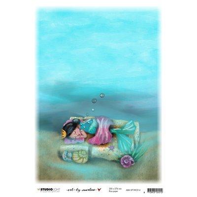 Art by Marlene So Fish Ticated rizspapír nr14 - A4