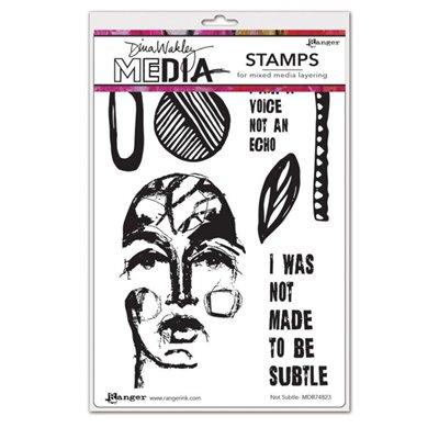 Dina Wakley Media Cling Stamp - Not subtle